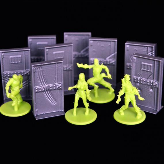 8 portes 3D compatible zombicides