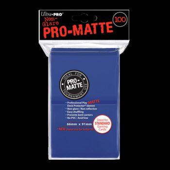 pro-matte-standard-sleeves-bleu-100