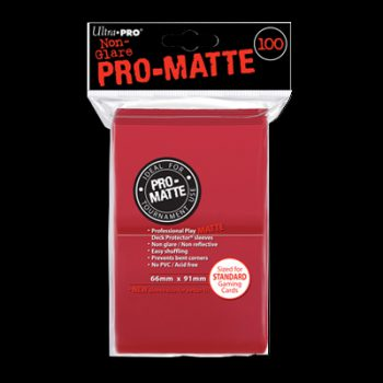 pro-matte-standard-sleeves-red-100c