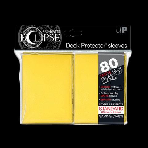 Pochettes-ULTRA-PRO-80-Sleeves-Standards-Pro-Matte-Eclipse-JAUNE