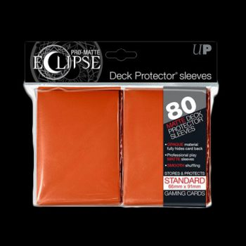 Pochettes-ULTRA-PRO-80-Sleeves-Standards-Pro-Matte-Eclipse-ORANGE