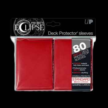 Pochettes-ULTRA-PRO-80-Sleeves-Standards-Pro-Matte-Eclipse-ROUGE
