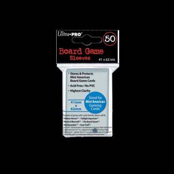 50 Pochettes - ULTRA-PRO - BOARD GAME - 41x63 - MINI AMERICAN