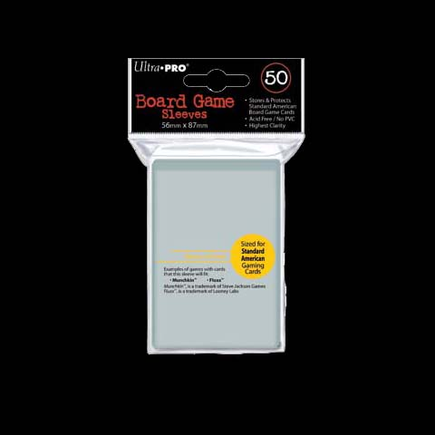50 Pochettes - ULTRA-PRO - BOARD GAME - 56x87 - STANDARD AMERICAN