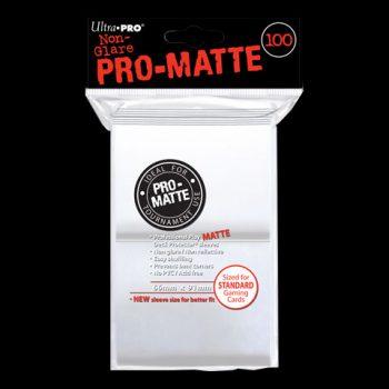 pro-matte-standard-sleeves-blanc-100